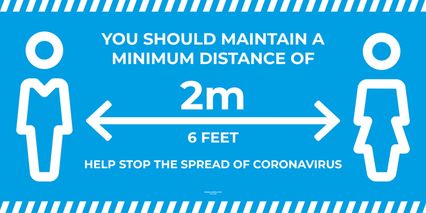 Banner PVC with Hem and Eyelets - HELP STOP THE SPREAD OF CORONAVIRUS - 2000x1000mm [EACH] **SPECIAL NON-RETURNABLE**