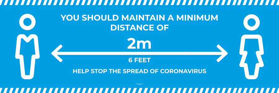 Banner PVC with Hem and Eyelets - HELP STOP THE SPREAD OF CORONAVIRUS - 3000x1000mm [EACH] **SPECIAL NON-RETURNABLE**