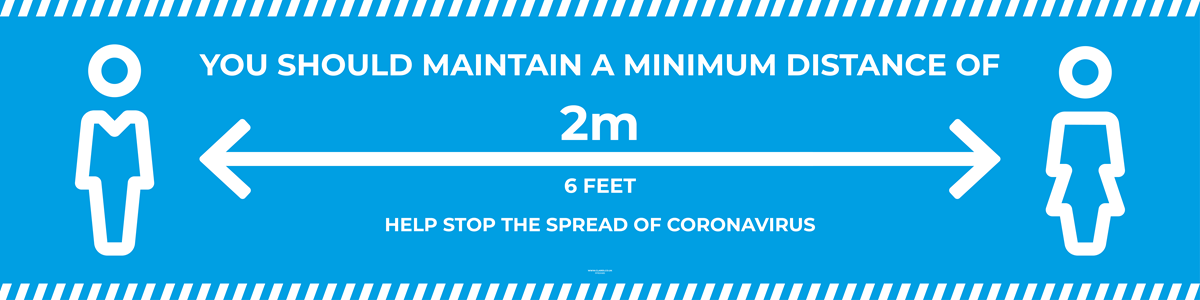 Banner PVC with Hem and Eyelets - HELP STOP THE SPREAD OF CORONAVIRUS - 4000x1000mm [EACH] **SPECIAL NON-RETURNABLE**