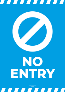 Laminated Posters - NO ENTRY - A4 [PK10] **SPECIAL NON-RETURNABLE**